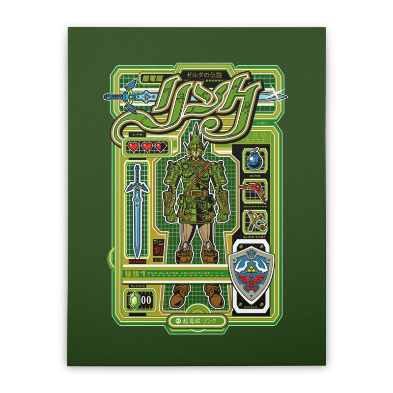 A Link to the Future Home Stretched Canvas by Jesse Philips' Artist Shop