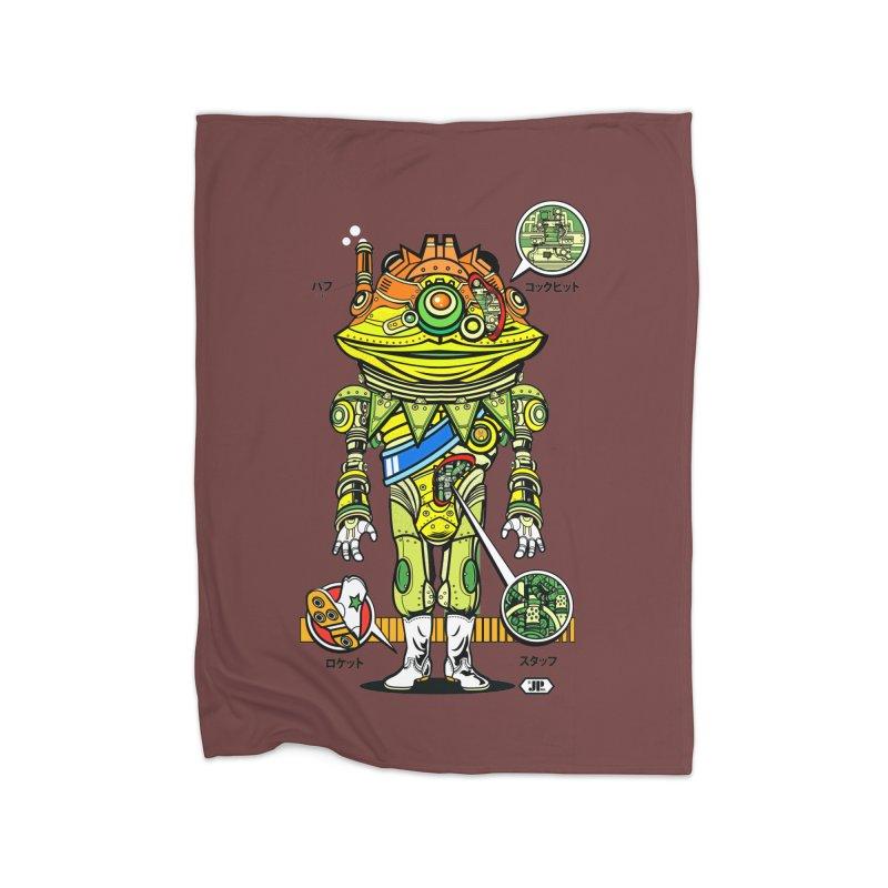 Mecha Puff N' Stuff Home Blanket by Jesse Philips' Artist Shop