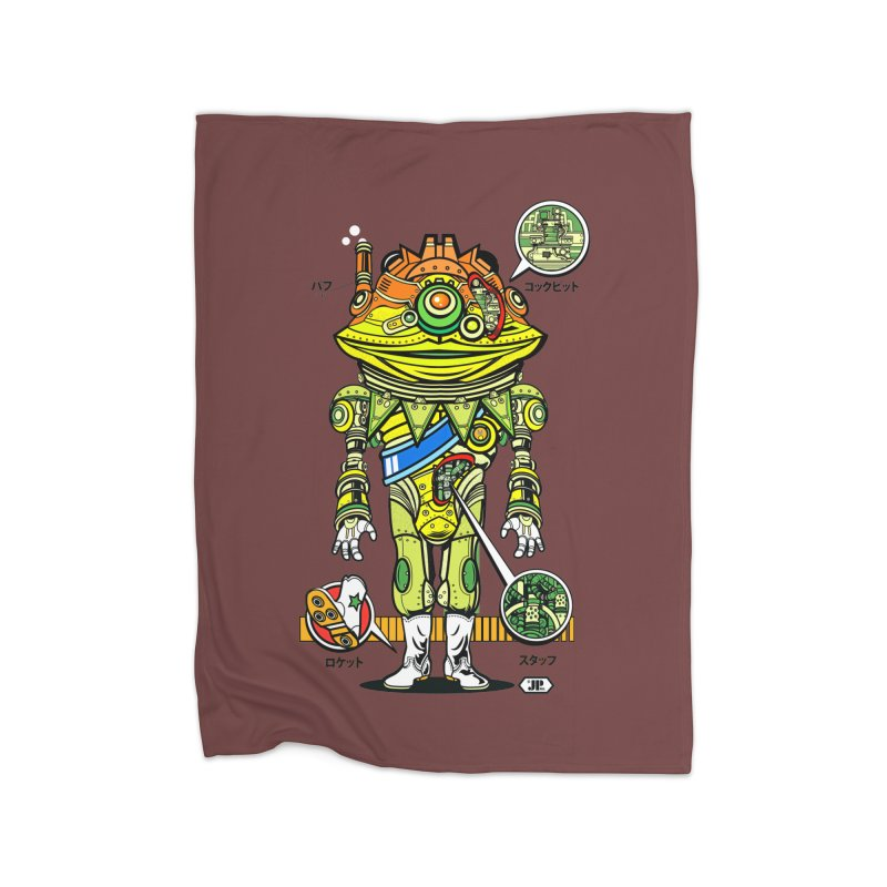 Mecha Puff N' Stuff Home Fleece Blanket Blanket by Jesse Philips' Artist Shop