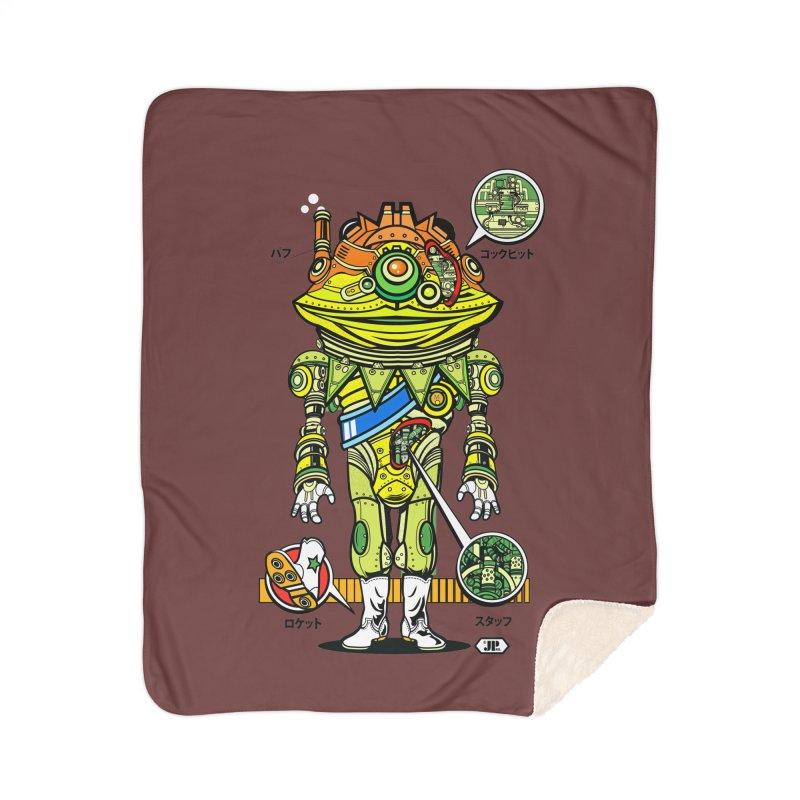 Mecha Puff N' Stuff Home Sherpa Blanket Blanket by Jesse Philips' Artist Shop