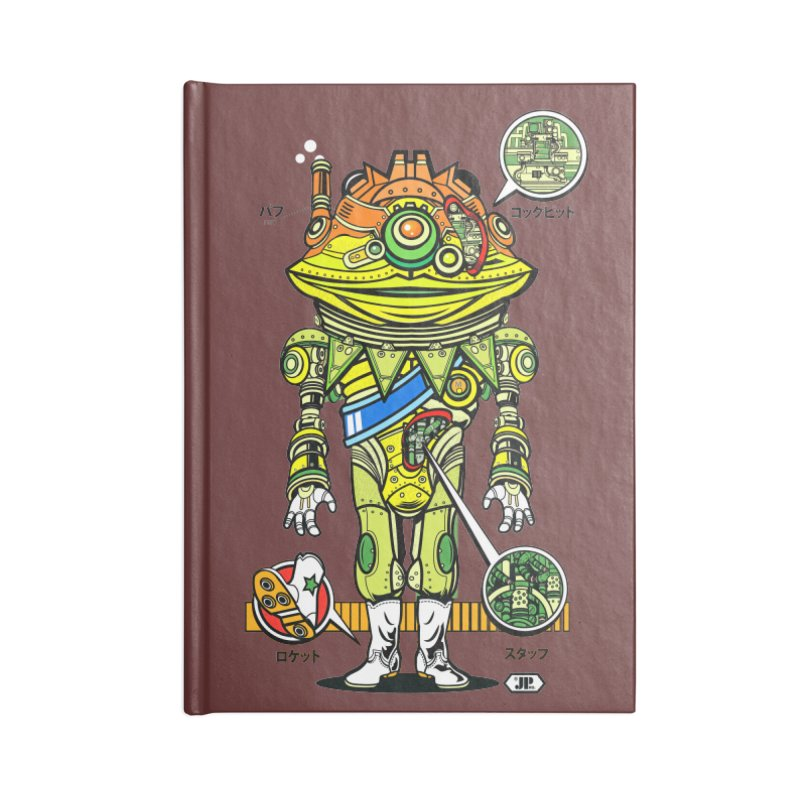 Mecha Puff N' Stuff Accessories Lined Journal Notebook by Jesse Philips' Artist Shop