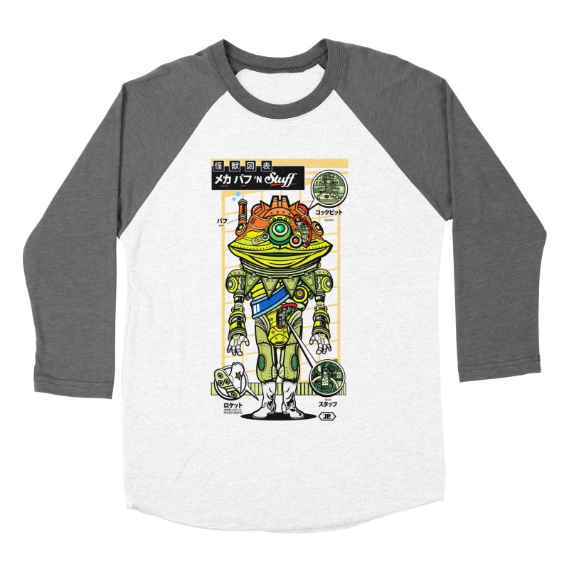 Mecha Puff N' Stuff Men's Baseball Triblend T-Shirt by Jesse Philips' Artist Shop