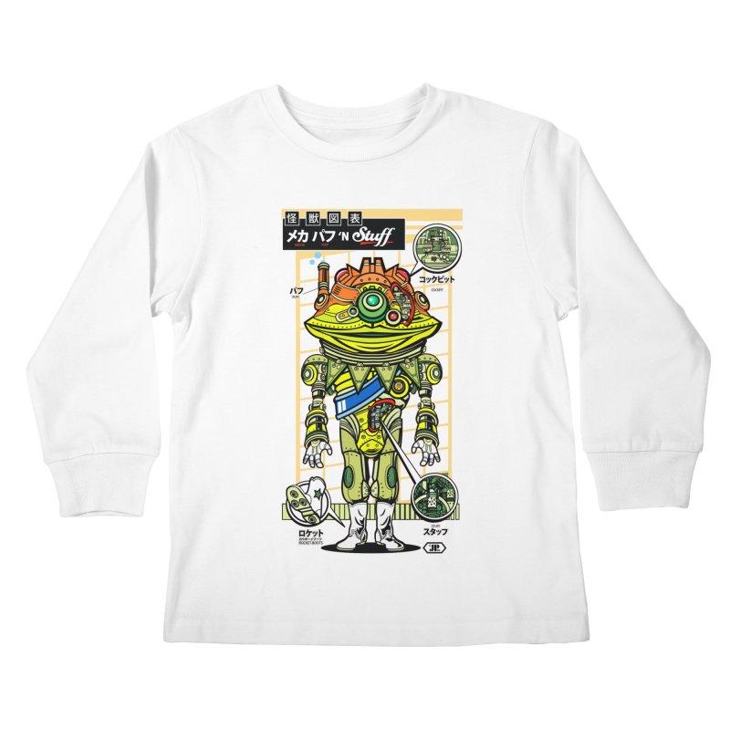 Mecha Puff N' Stuff Kids Longsleeve T-Shirt by Jesse Philips' Artist Shop