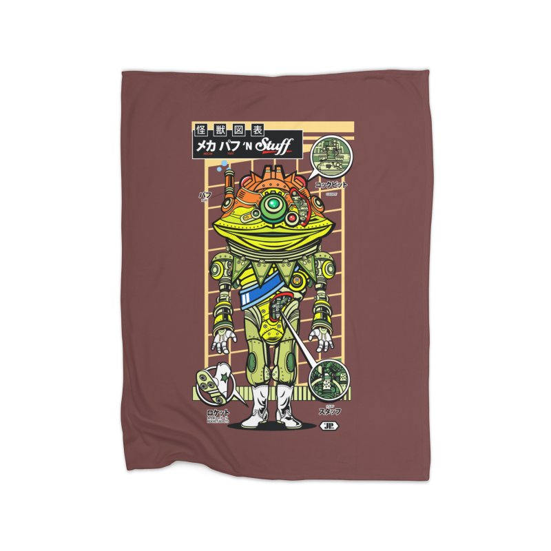 Mecha Puff N' Stuff Home Fleece Blanket by Jesse Philips' Artist Shop
