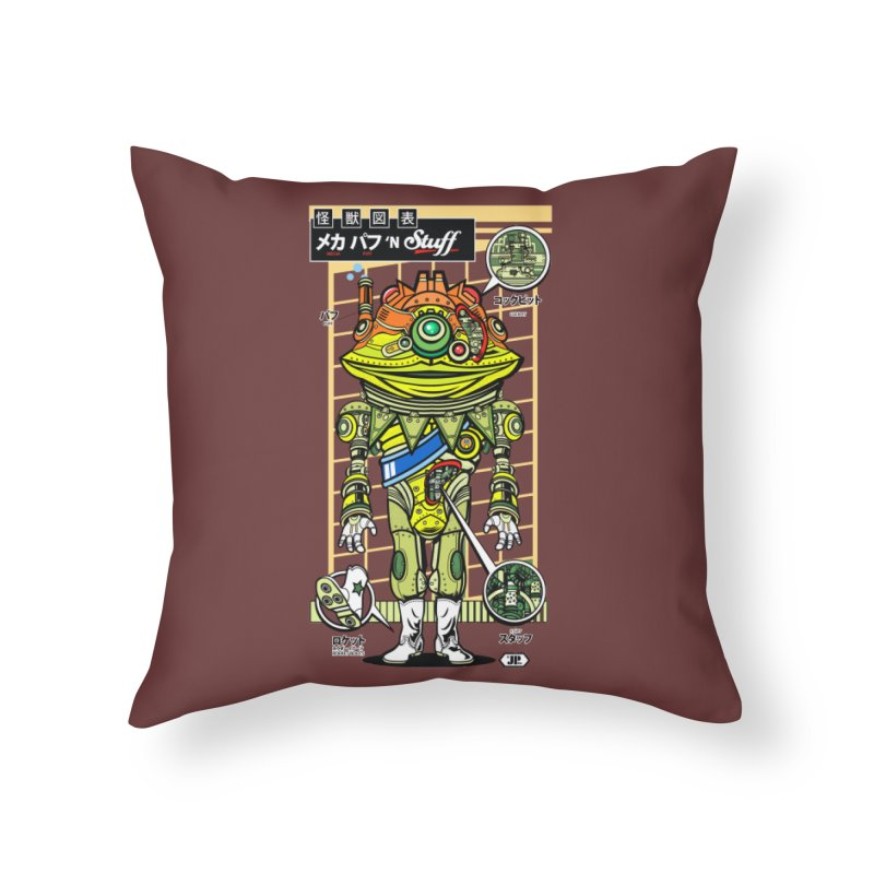 Mecha Puff N' Stuff Home Throw Pillow by Jesse Philips' Artist Shop