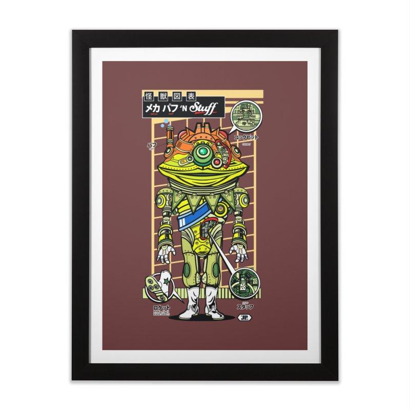 Mecha Puff N' Stuff Home Framed Fine Art Print by Jesse Philips' Artist Shop