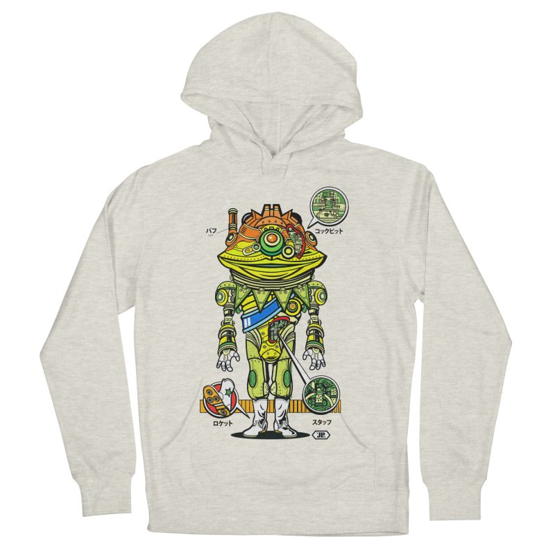 Mecha Puff N' Stuff Women's French Terry Pullover Hoody by Jesse Philips' Artist Shop
