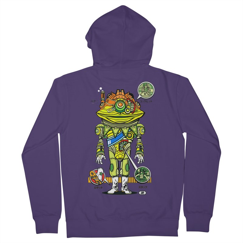 Mecha Puff N' Stuff Women's French Terry Zip-Up Hoody by Jesse Philips' Artist Shop