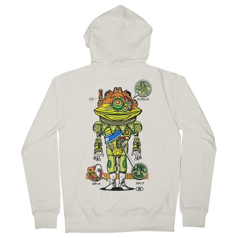 Mecha Puff N' Stuff Men's French Terry Zip-Up Hoody by Jesse Philips' Artist Shop