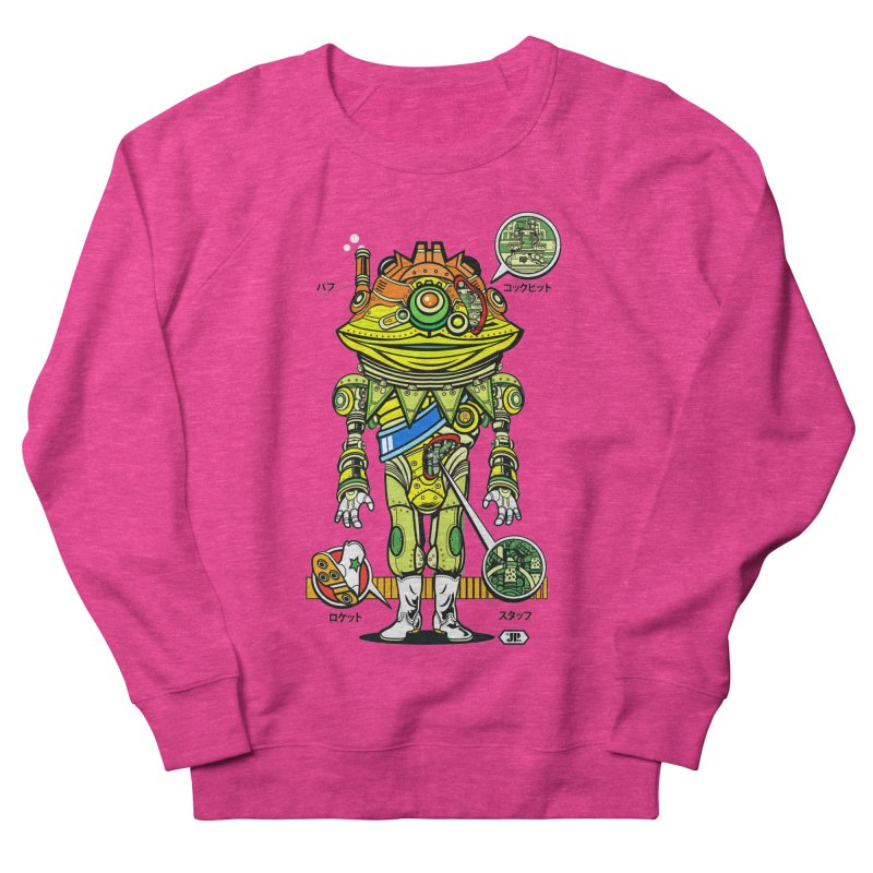 Mecha Puff N' Stuff Women's French Terry Sweatshirt by Jesse Philips' Artist Shop