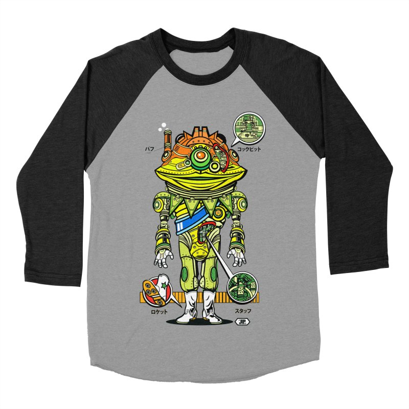 Mecha Puff N' Stuff Women's Baseball Triblend Longsleeve T-Shirt by Jesse Philips' Artist Shop