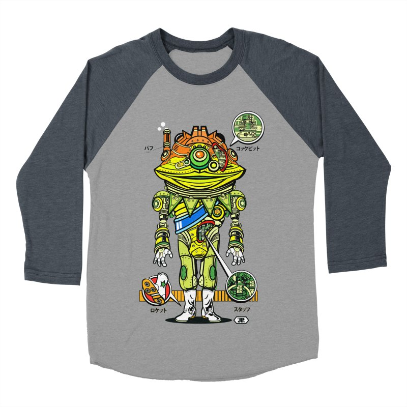 Mecha Puff N' Stuff Men's Baseball Triblend Longsleeve T-Shirt by Jesse Philips' Artist Shop
