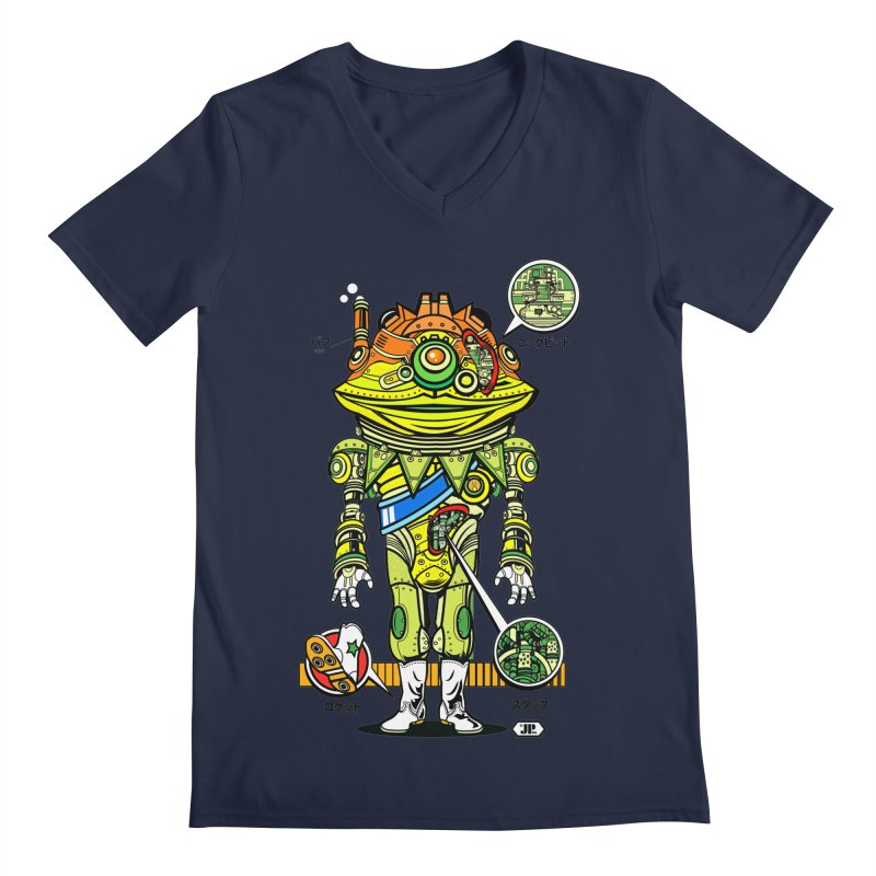 Mecha Puff N' Stuff Men's V-Neck by Jesse Philips' Artist Shop