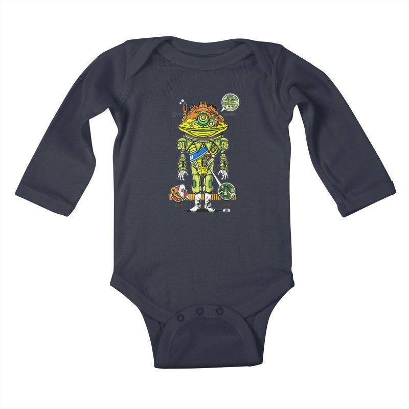 Mecha Puff N' Stuff Kids Baby Longsleeve Bodysuit by Jesse Philips' Artist Shop
