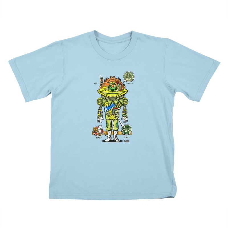 Mecha Puff N' Stuff Kids T-Shirt by Jesse Philips' Artist Shop