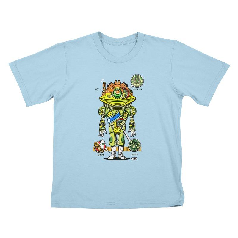 Mecha Puff N' Stuff Kids T-Shirt by Jesse Philips' Artist Shop