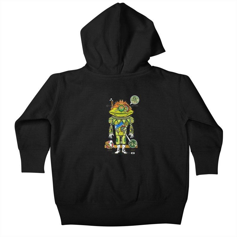 Mecha Puff N' Stuff Kids Baby Zip-Up Hoody by Jesse Philips' Artist Shop