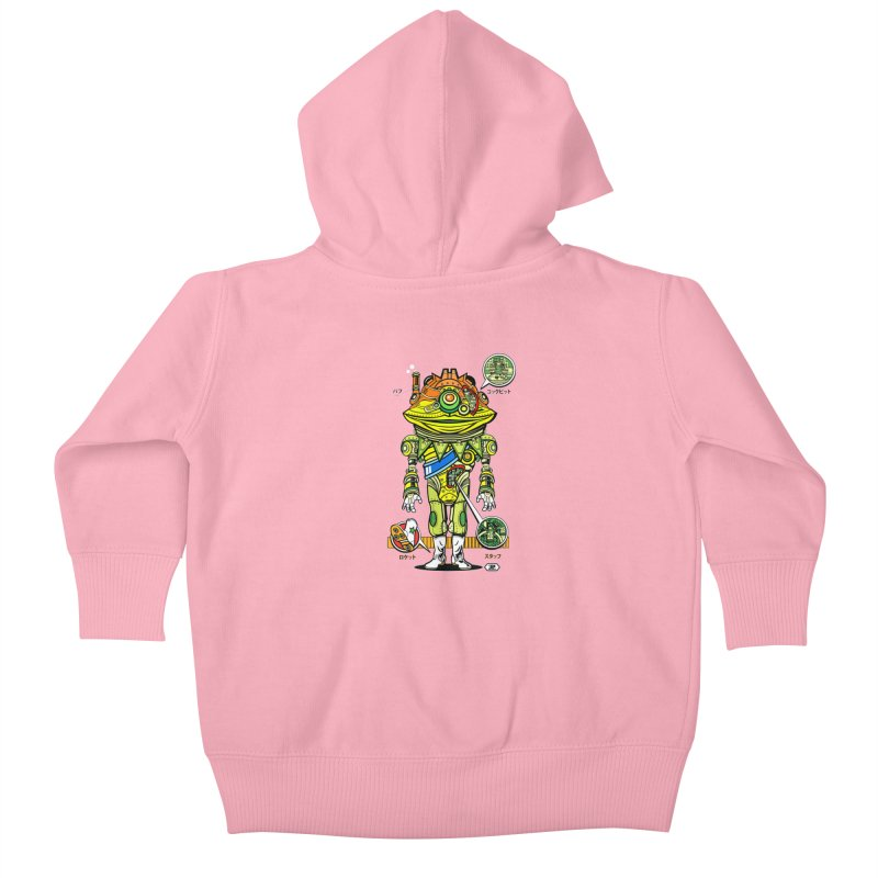 Mecha Puff N' Stuff Kids Baby Zip-Up Hoody by Jesse Philips' Artist Shop