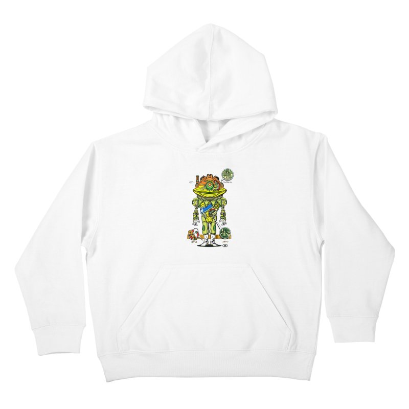 Mecha Puff N' Stuff Kids Pullover Hoody by Jesse Philips' Artist Shop