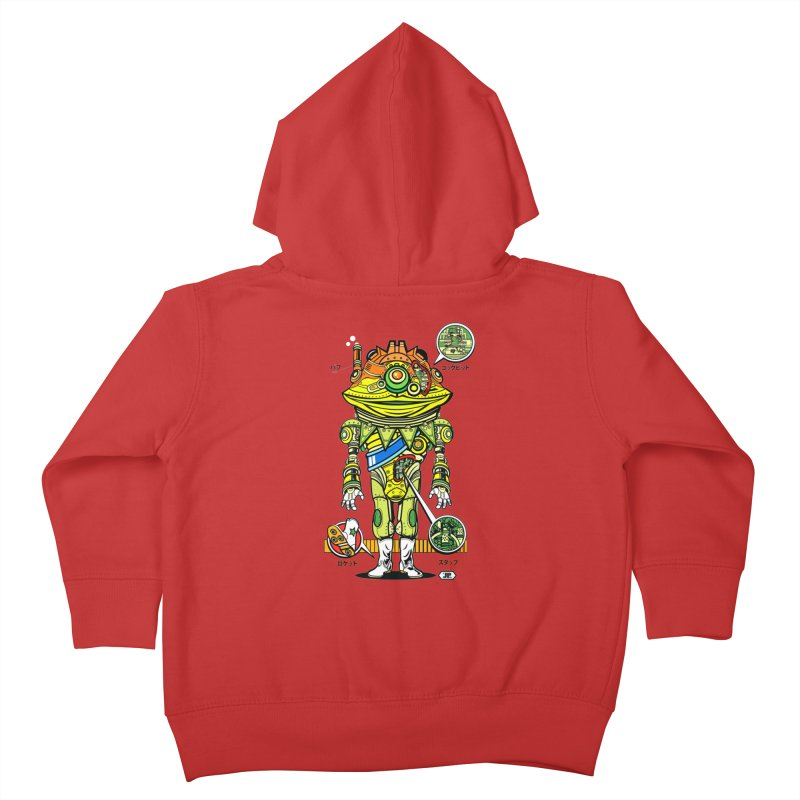Mecha Puff N' Stuff Kids Toddler Zip-Up Hoody by Jesse Philips' Artist Shop