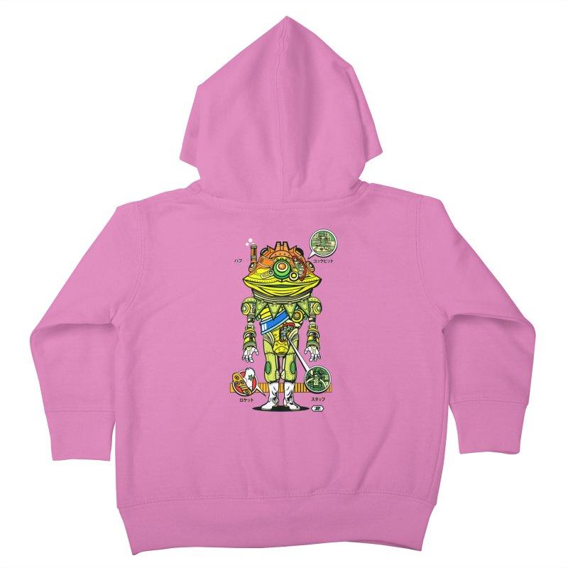 Mecha Puff N' Stuff Kids Toddler Zip-Up Hoody by Jesse Philips' Artist Shop