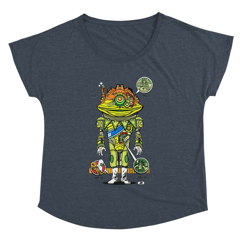 Mecha Puff N' Stuff Women's Dolman Scoop Neck by Jesse Philips' Artist Shop