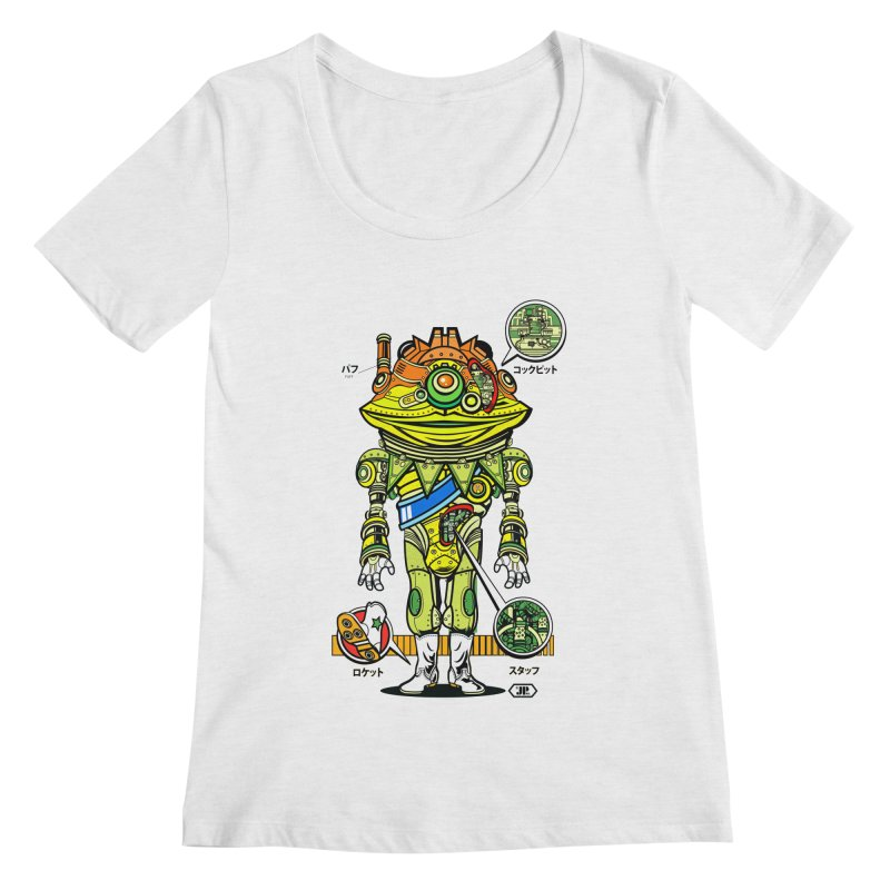 Mecha Puff N' Stuff Women's Regular Scoop Neck by Jesse Philips' Artist Shop