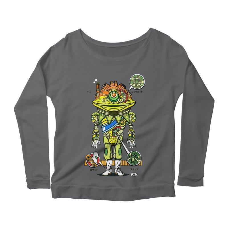Mecha Puff N' Stuff Women's Scoop Neck Longsleeve T-Shirt by Jesse Philips' Artist Shop
