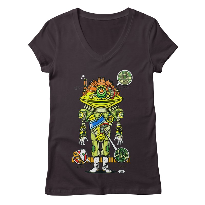 Mecha Puff N' Stuff Women's V-Neck by Jesse Philips' Artist Shop