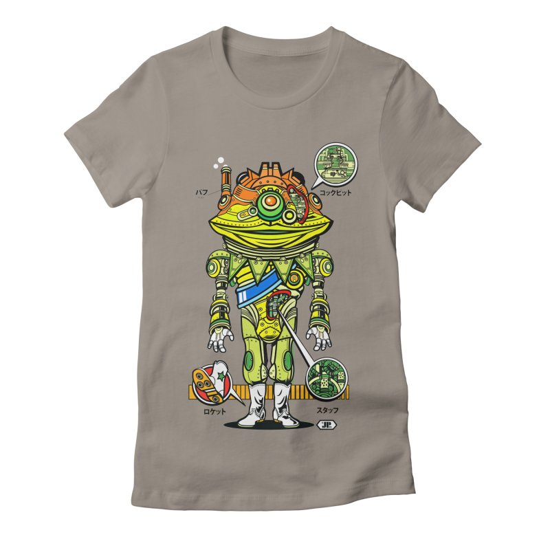 Mecha Puff N' Stuff Women's Fitted T-Shirt by Jesse Philips' Artist Shop