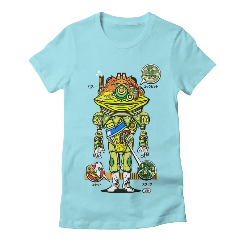 Mecha Puff N' Stuff Women's Fitted T-Shirt by Jesse Philips' Artist Shop