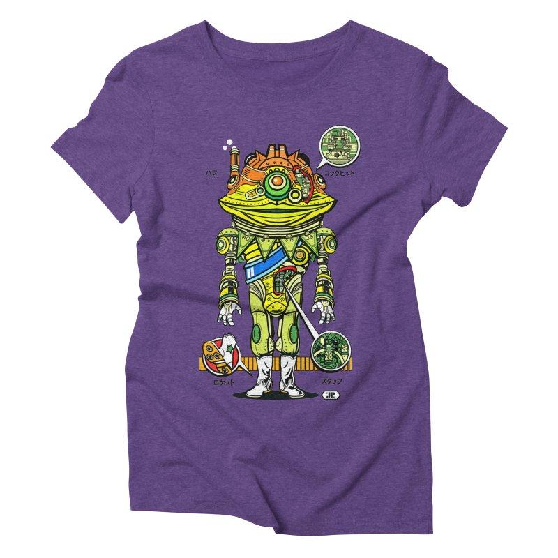 Mecha Puff N' Stuff Women's Triblend T-Shirt by Jesse Philips' Artist Shop