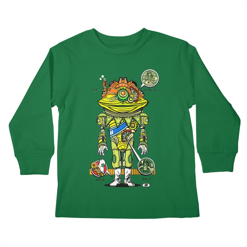 Mecha Puff N' Stuff Kids Longsleeve T-Shirt by Jesse Philips' Artist Shop
