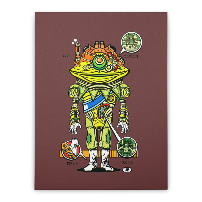 Mecha Puff N' Stuff Home Stretched Canvas by Jesse Philips' Artist Shop