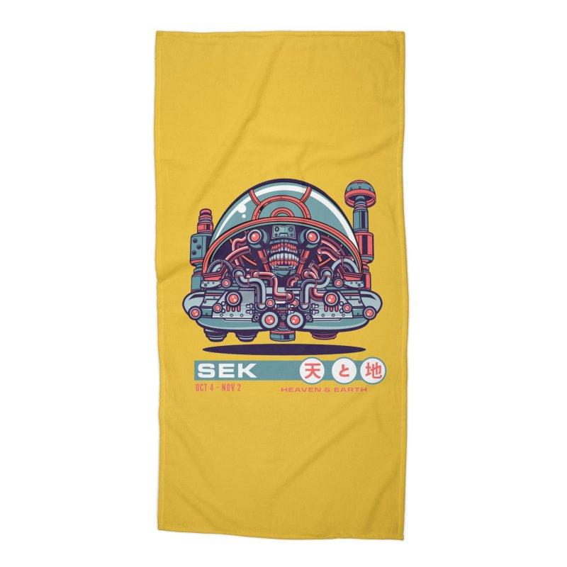 Mayan Zodiac- SEK Accessories Beach Towel by Jesse Philips' Artist Shop