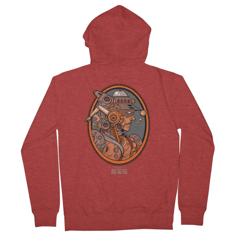 Ultra Magnetic Cameo Men's French Terry Zip-Up Hoody by Jesse Philips' Artist Shop