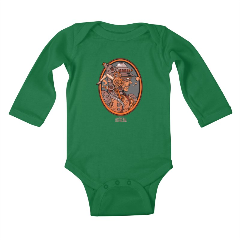Ultra Magnetic Cameo Kids Baby Longsleeve Bodysuit by Jesse Philips' Artist Shop