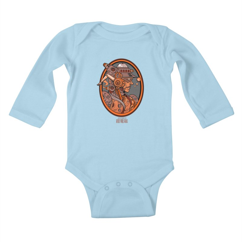 Ultra Magnetic Cameo Kids Baby Longsleeve Bodysuit by Jesse Philips' Artist Shop