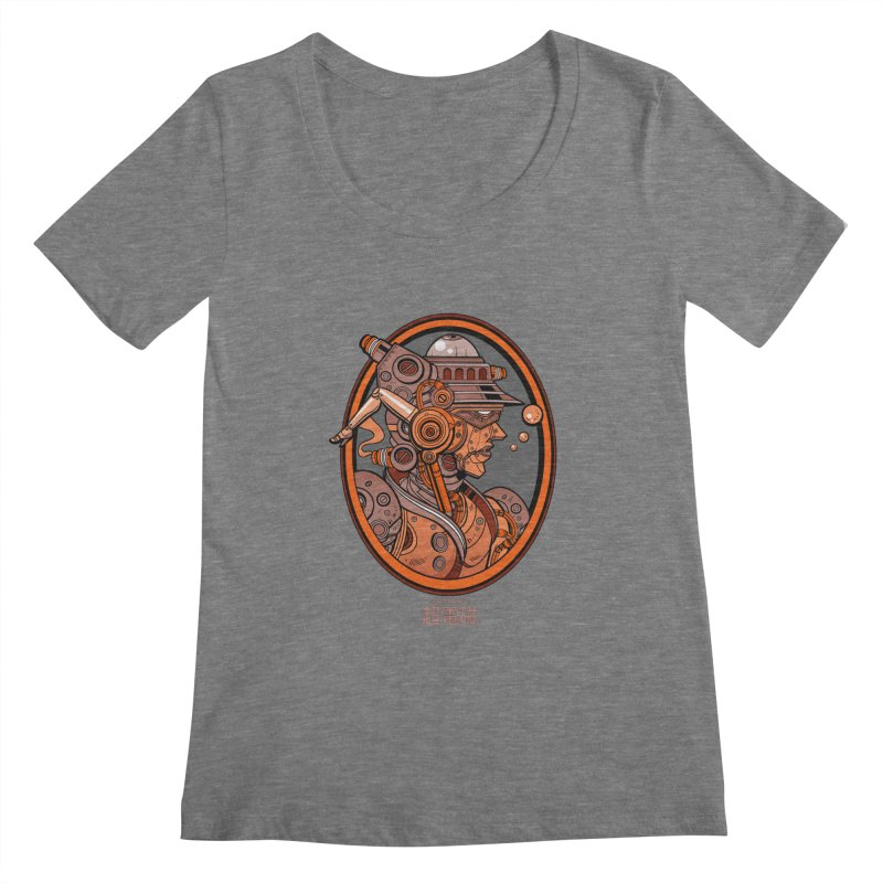 Ultra Magnetic Cameo Women's Scoopneck by Jesse Philips' Artist Shop