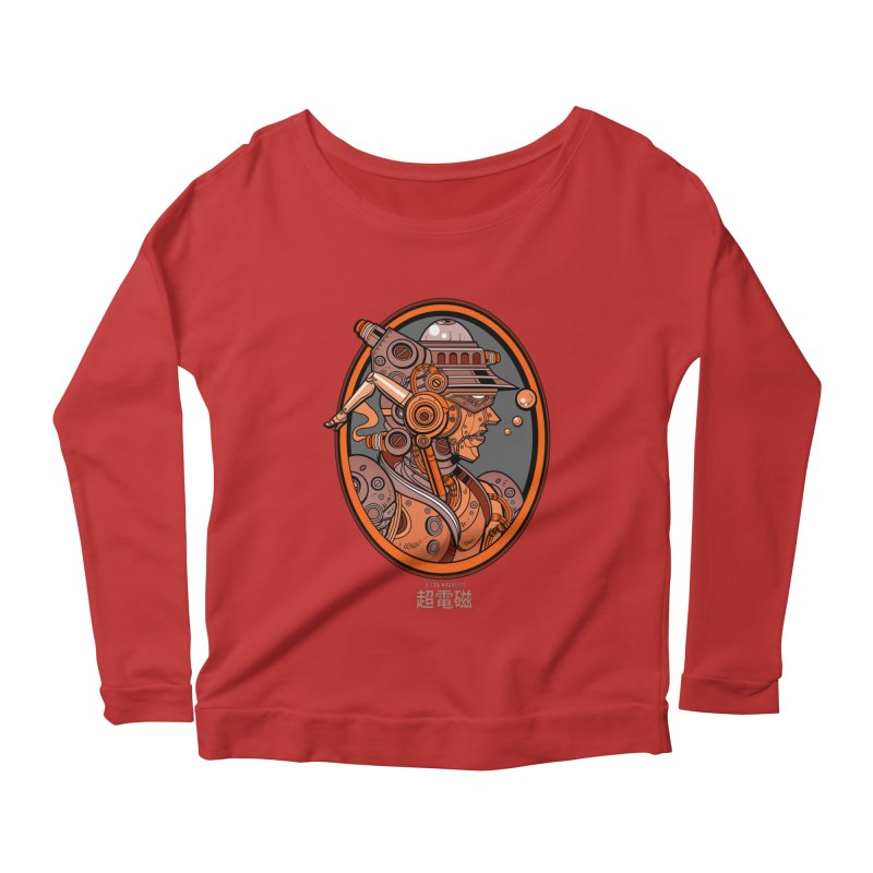 Ultra Magnetic Cameo Women's Longsleeve Scoopneck  by Jesse Philips' Artist Shop