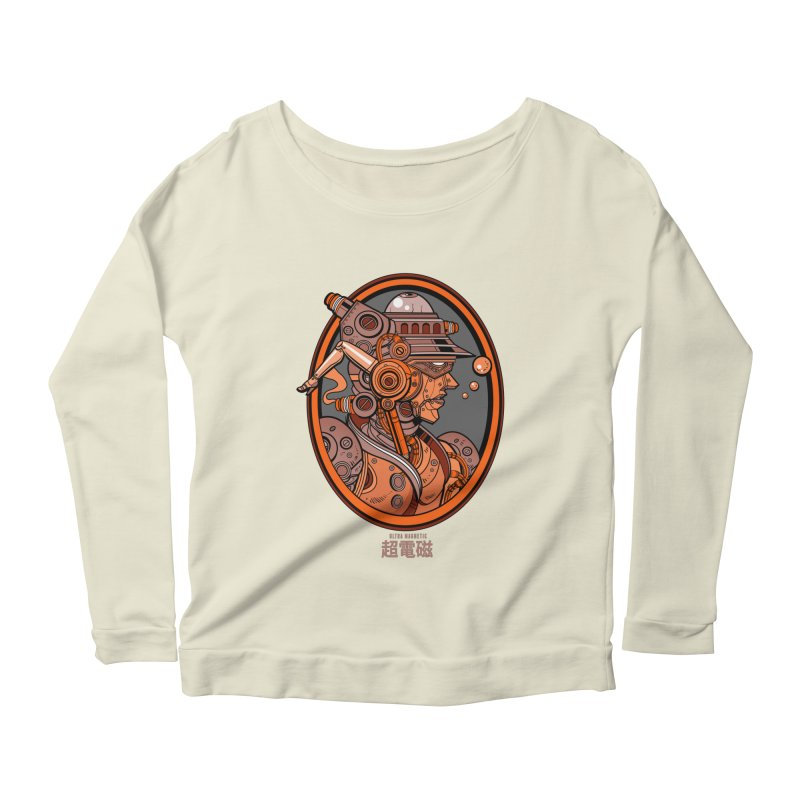 Ultra Magnetic Cameo Women's Scoop Neck Longsleeve T-Shirt by Jesse Philips' Artist Shop