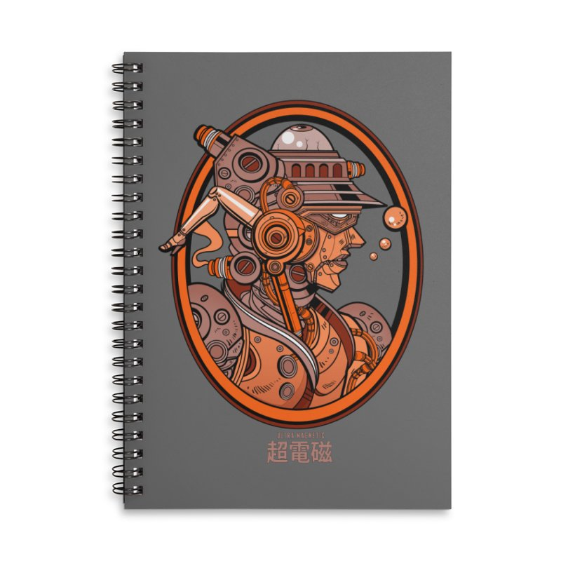 Ultra Magnetic Cameo Accessories Lined Spiral Notebook by Jesse Philips' Artist Shop