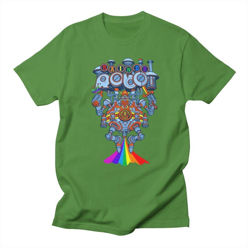 Rainbow Robo Men's Regular T-Shirt by Jesse Philips' Artist Shop