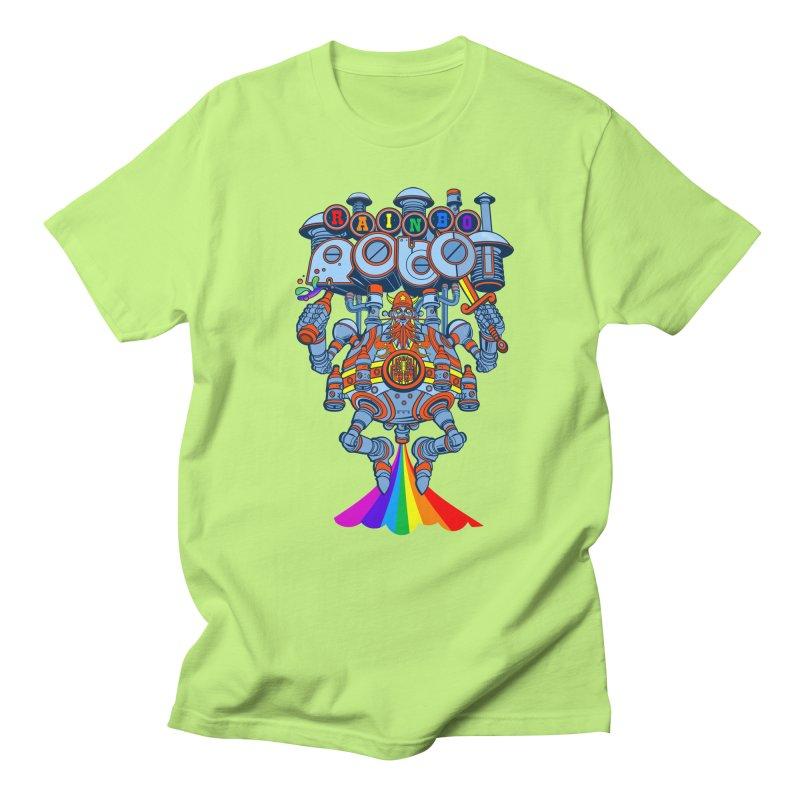 Rainbow Robo Men's T-shirt by Jesse Philips' Artist Shop