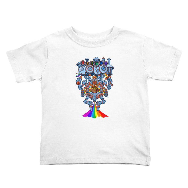 Rainbow Robo Kids Toddler T-Shirt by Jesse Philips' Artist Shop