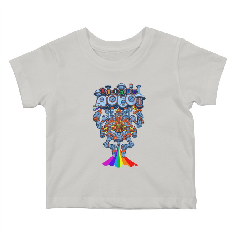 Rainbow Robo Kids Baby T-Shirt by Jesse Philips' Artist Shop
