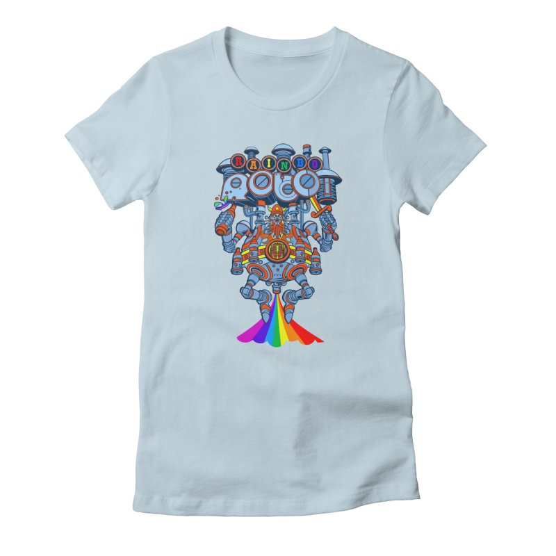 Rainbow Robo Women's T-Shirt by Jesse Philips' Artist Shop