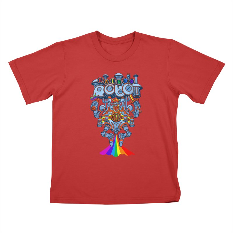 Rainbow Robo Kids T-Shirt by Jesse Philips' Artist Shop