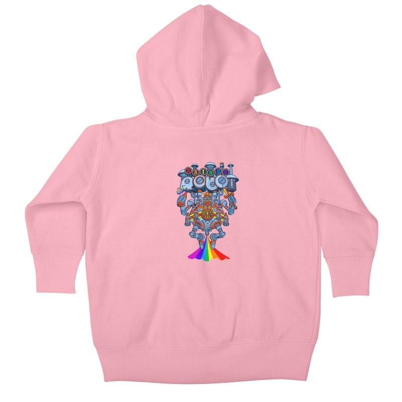 Rainbow Robo Kids Baby Zip-Up Hoody by Jesse Philips' Artist Shop