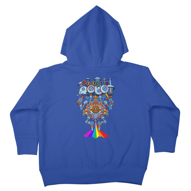 Rainbow Robo Kids Toddler Zip-Up Hoody by Jesse Philips' Artist Shop